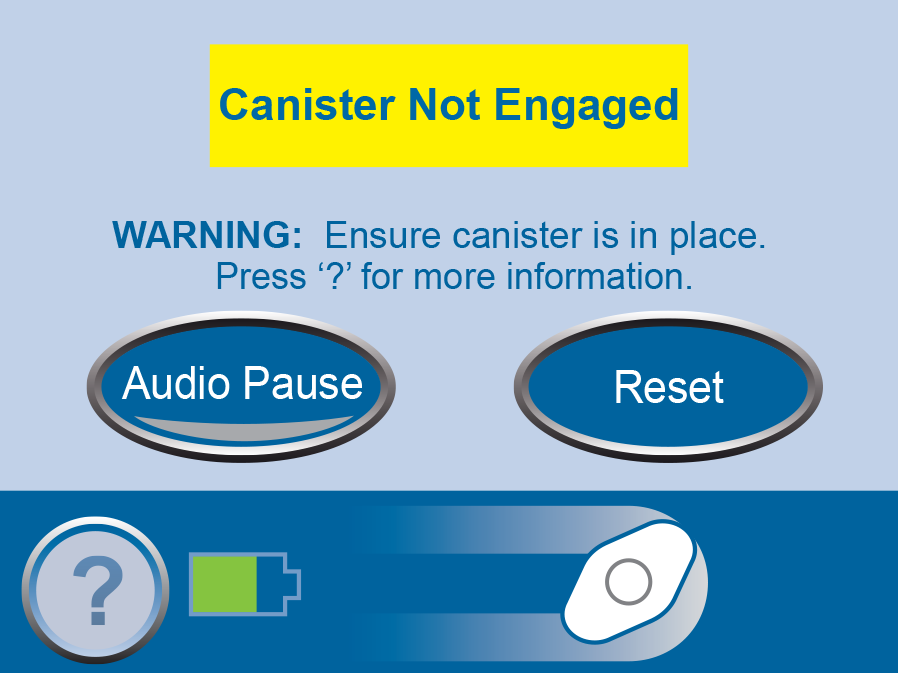 Canister Not Engaged Alarm